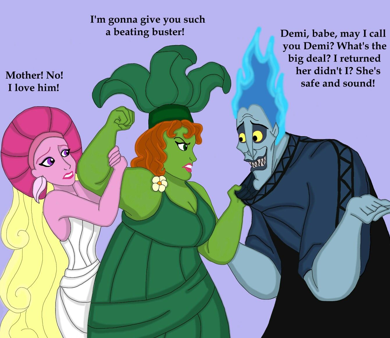 if they were from the animated movie of hercules