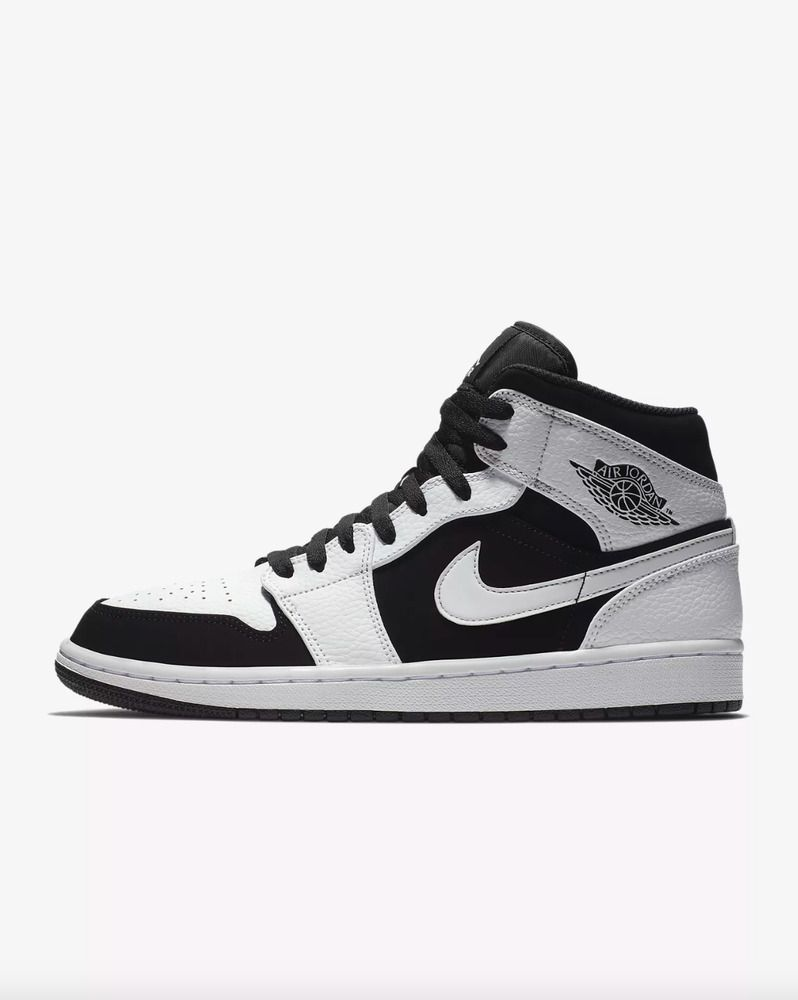quality design a897a d1563 fashion AIR JORDAN 1 MID Mens White Black-White 554724-113 Sneakers Shoes