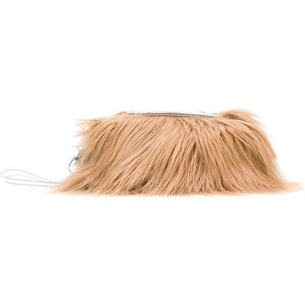 Mm6 Maison Margiela faux fur clutch ( 385) ❤ liked on Polyvore featuring  bags, b2f38e9e46