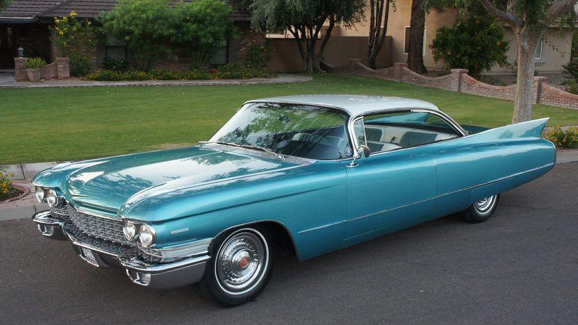 Cadillac blau Leinwandbild