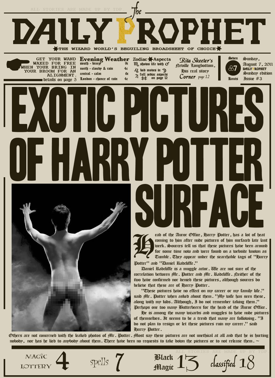 The Daily Prophet Printable Daily Prophet! | Harry...