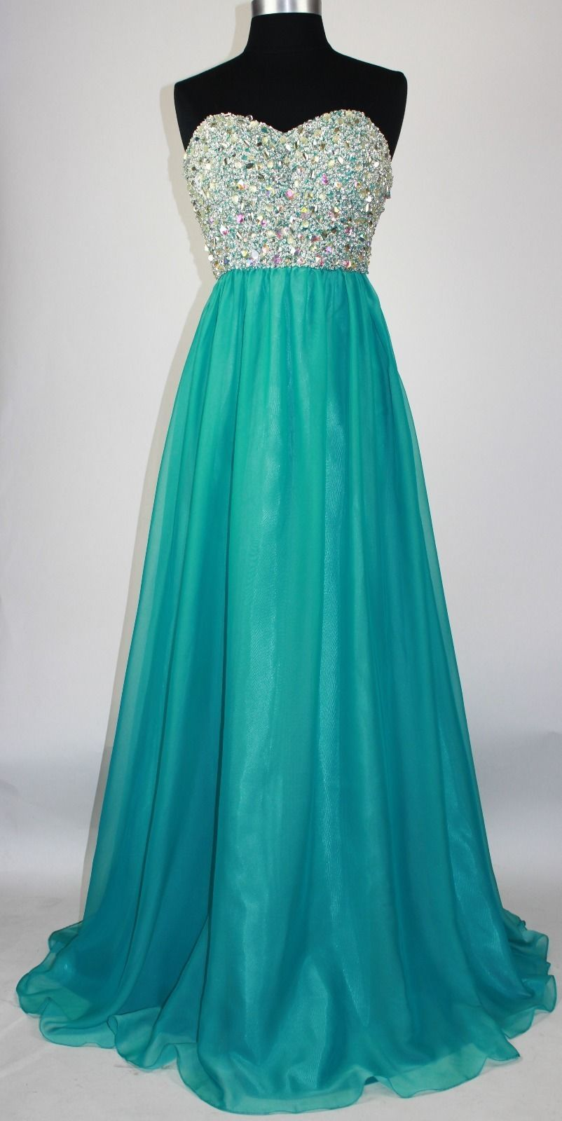 New Teal Prom Dresses Long Elegant Strapless Beaded Evening Gowns ...