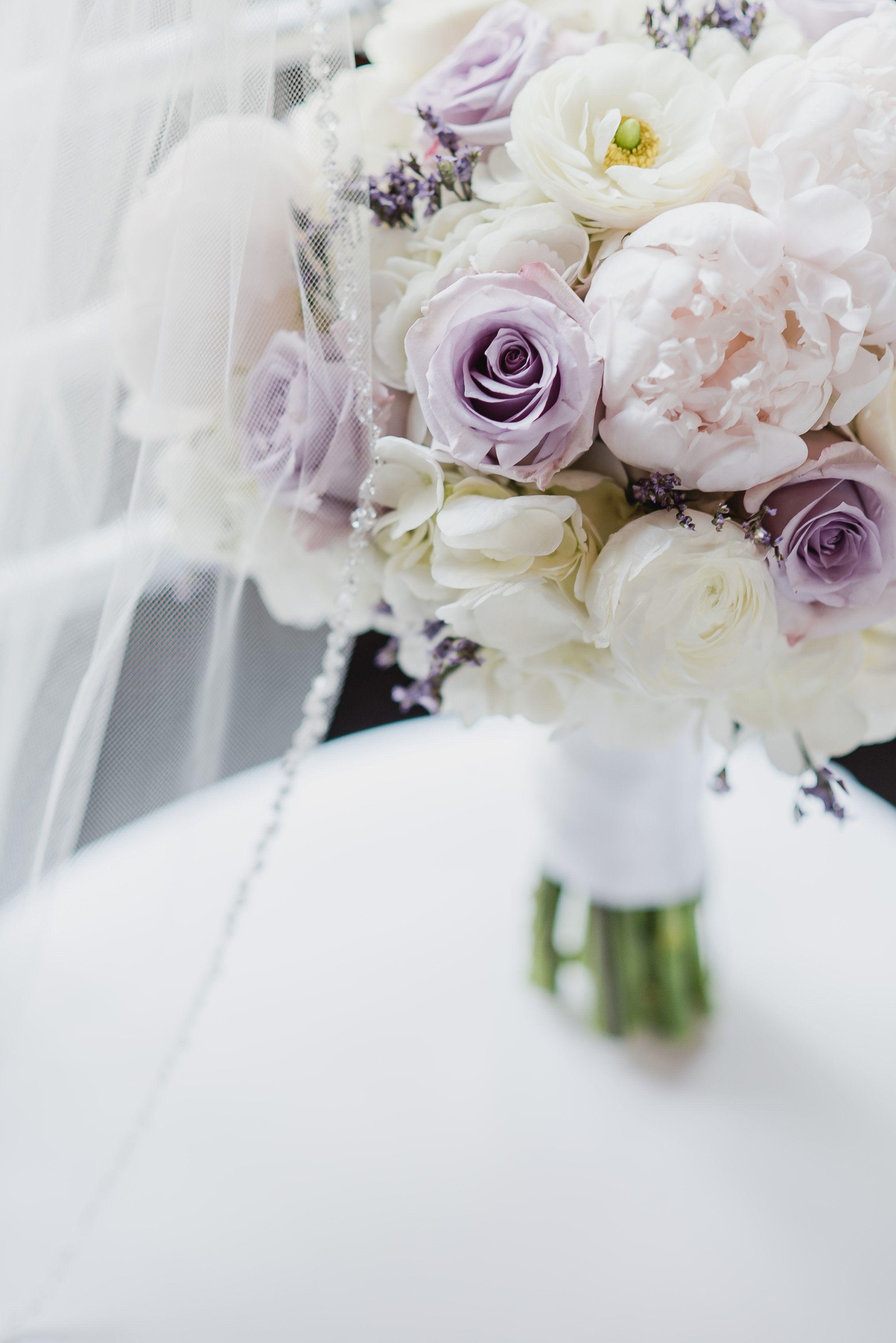 Floral Sense Llc Round Bride Bouquet With White Hydrangea Blush Peonies Lavender Rose Wedding Bouquets Pink Pink Peony Bouquet Wedding Purple Bride Bouquet