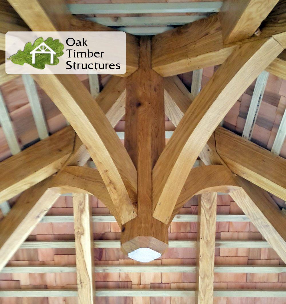 Best Solid Oak Gazebo Lantern With A Cedar Shingle Roof Timber Structure 400 x 300