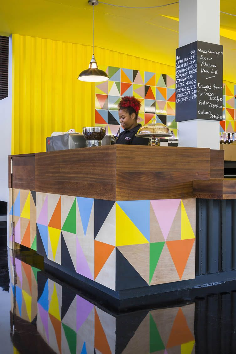 Morag Myerscough brings her smile-inducing aesthetic to the bar-café of Tottenhams Bernie Grant Arts Centre…