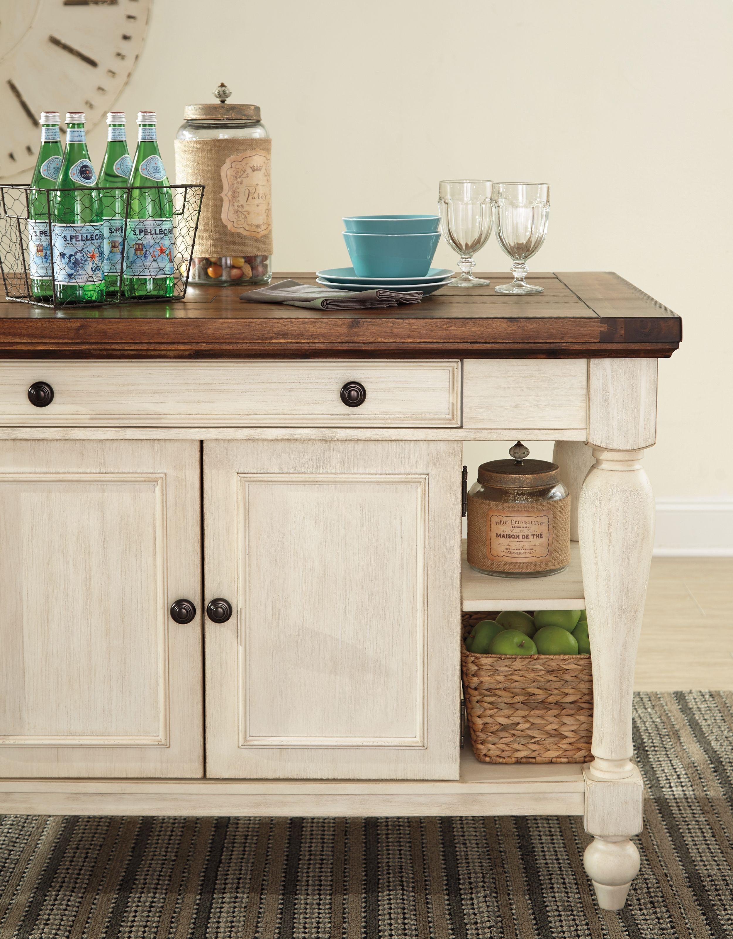 Marsilona 3-Piece Kitchen Island Set, White