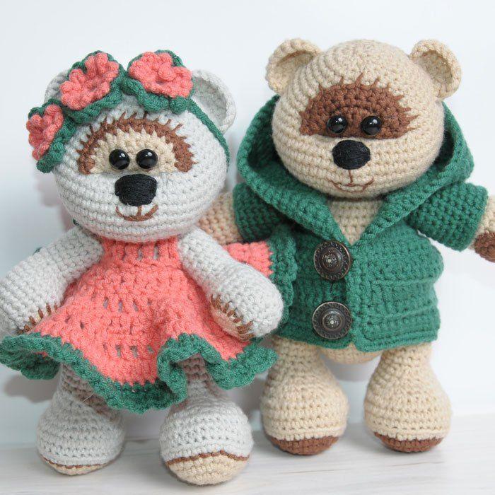 Amigurumi-Teddybären in der Liebe - freies Häkelmuster | Häkeln ...