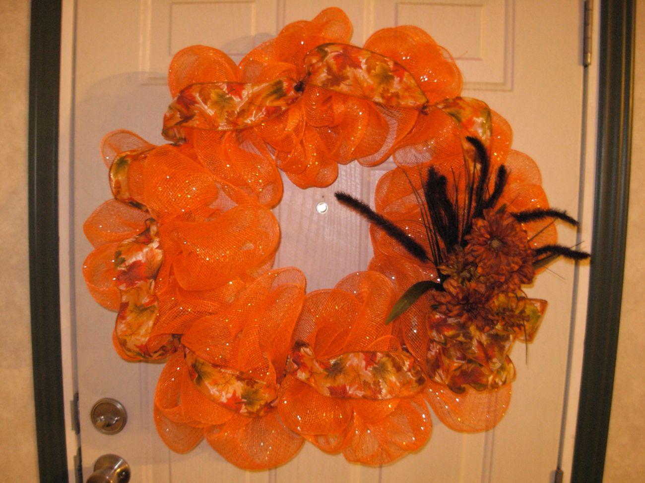 Image detail for -Fall Deco Mesh Wreath - Wreaths