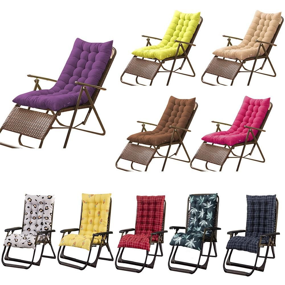 Rocking Chair Cushions Indoor Lounger Cushion Thick Large Soft Chair Sofa Pad Perfect For Indoor Outdoor Rec In 2020 Rocking Chair Cushions Outdoor Recliner Soft Chair