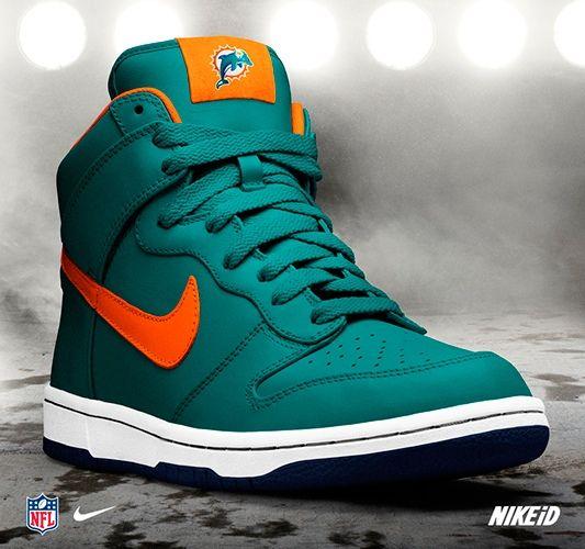dc06cc5d Miami Dolphins - Nike Dunk NFL iD - Nike Sportswear | Shoe Addiction ...