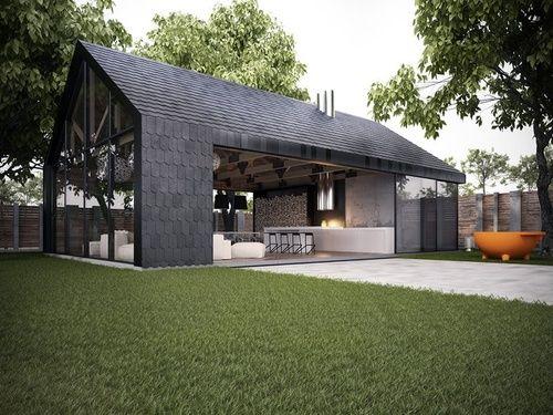 wow so sch n hell und offen kann ein schwarzes haus wirken zuk nftige projekte industrial. Black Bedroom Furniture Sets. Home Design Ideas