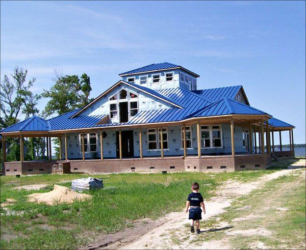 Roofing Metal Roofs Norfolk Metal Roofing Companies Chesapeake Va Clark Blue Roof Metal Roof Roofing