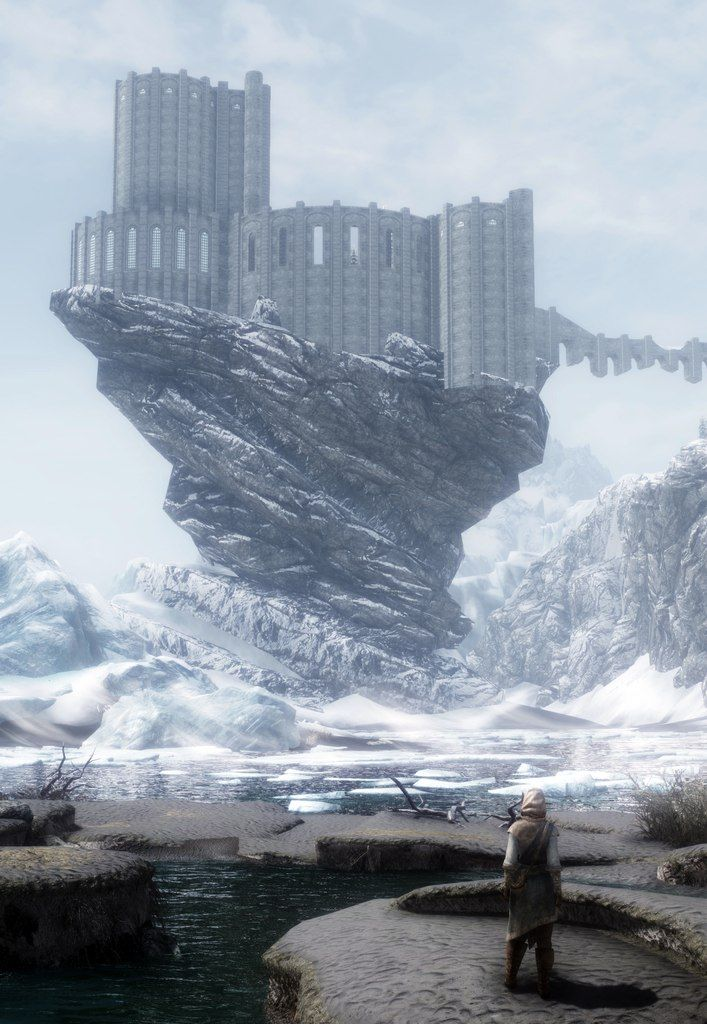 College of Winterhold The base of the first tower ruins it