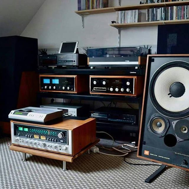 Sansui 9090, Philips cd-100 and Jbl 4311b by Pascal Aubry⠀ .⠀ .⠀ .⠀ #VintageAudio