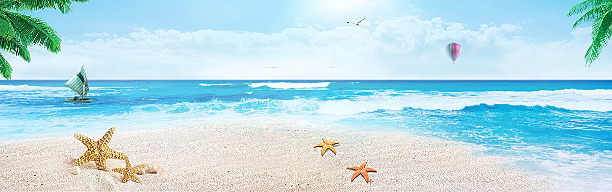 Summer poster background,Sea,beach,Leaves,Poster banner,Literature and art,Small fresh,Simplesummer vectors summer poster summer banner summer fun summer ...