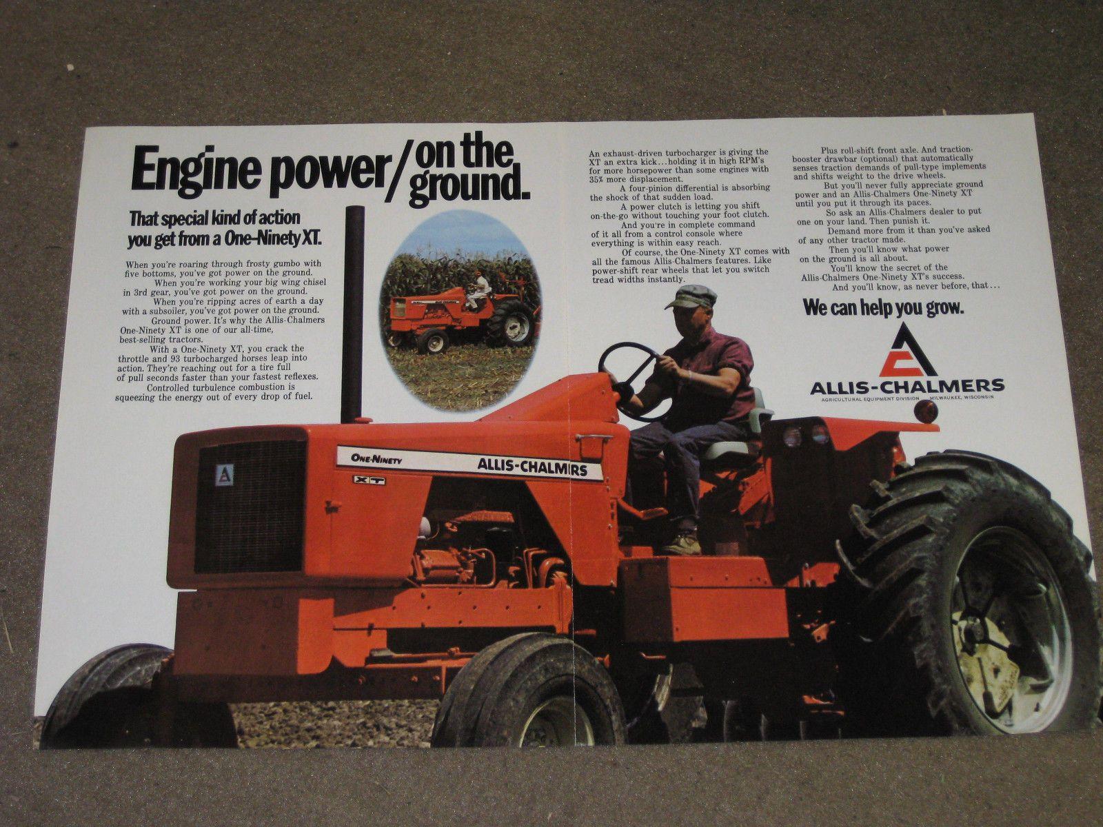 1972 Allis Chalmers 190 XT Tractor Ad   eBay   Allis ...