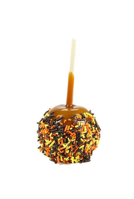 Brides.com: . Mini caramel apples with sprinkles, $20 for 12, Daffy Apples
