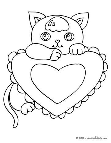 Kawaii Kitten Coloring Page Nice Cat Drawing For Kids More