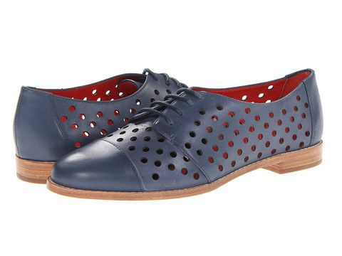 Kate Spade New York Peekaboo Navy Calf - Zappos Couture- would look cute with pink socks...