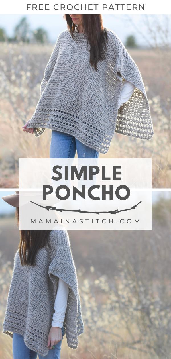 Photo of Beginner Crochet Poncho  Free Pattern