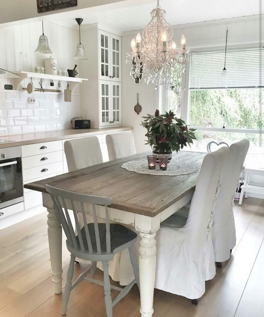 Shabby Chic Kitchen Table Centerpieces: Pin By Christine Bowden On A Shabby White Cottage In 2019
