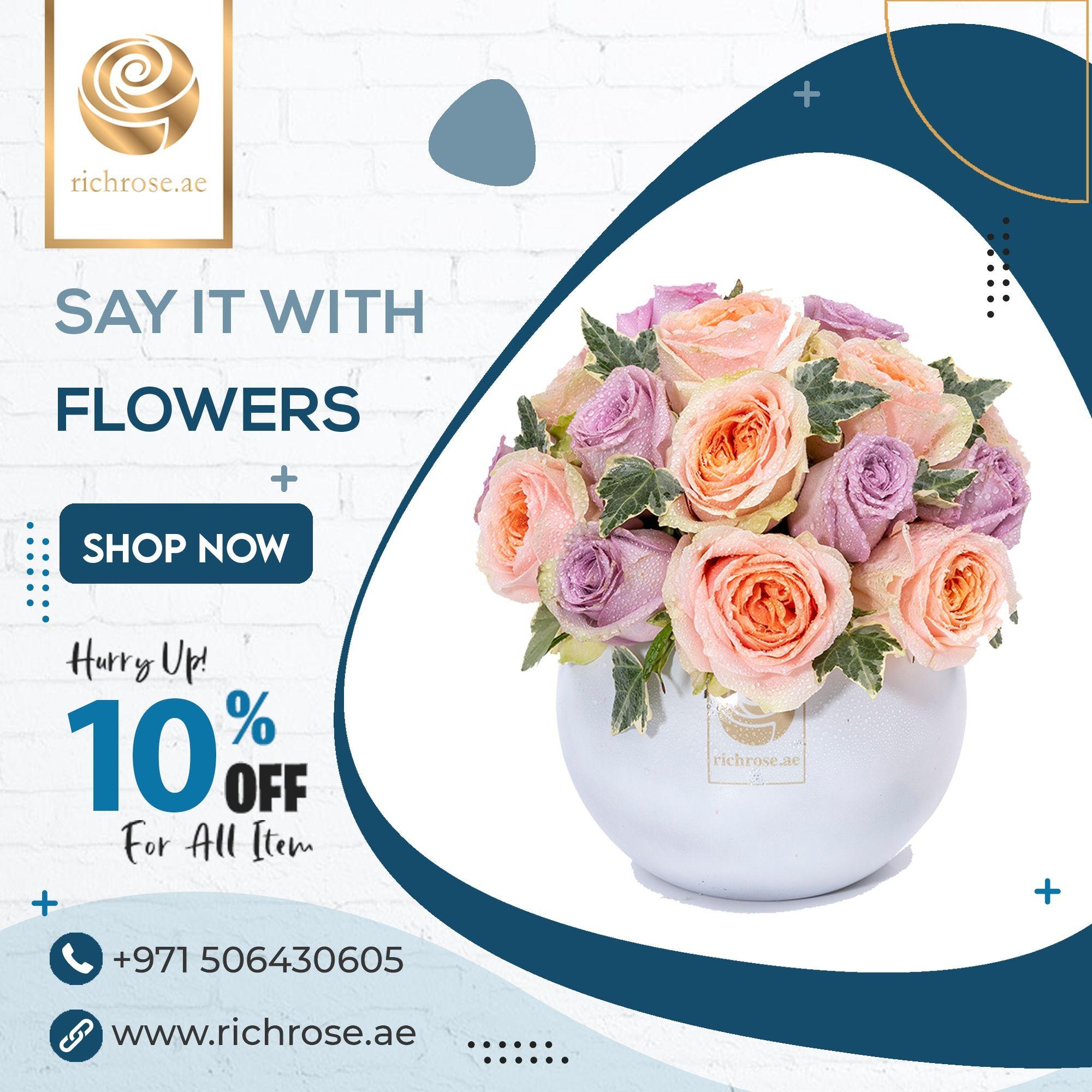 Zagreb Flower Box Online Flower Delivery In Dubai Online Flower Delivery Flower Boxes Purple Roses
