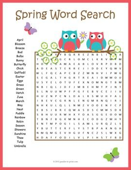 graphic regarding Free Printable Spring Word Search identify Spring Phrase Glimpse Clroom Options Spring phrases, Spring