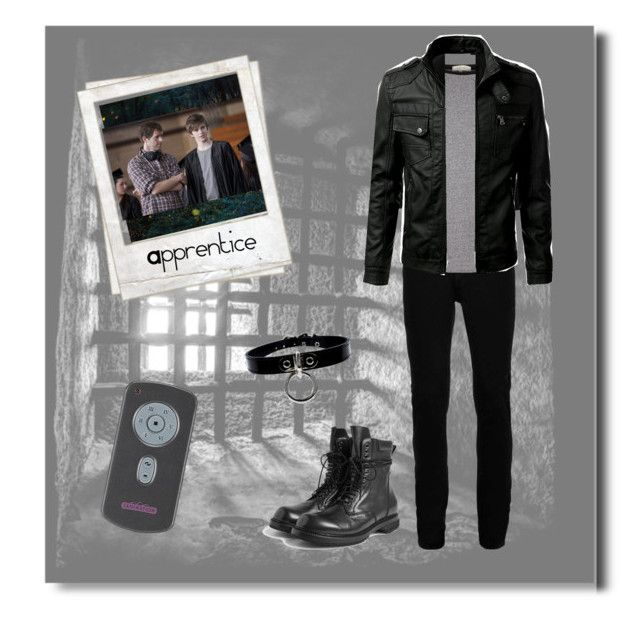 """""""Jacks Captive Outfit"""" by stop-being-kawaii ❤ liked on Polyvore featuring Topman, River Island, Rick Owens, Polaroid, men's fashion and menswear"""