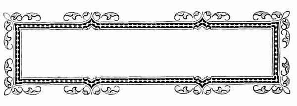 Vintage Rectangle Frame Clip Art
