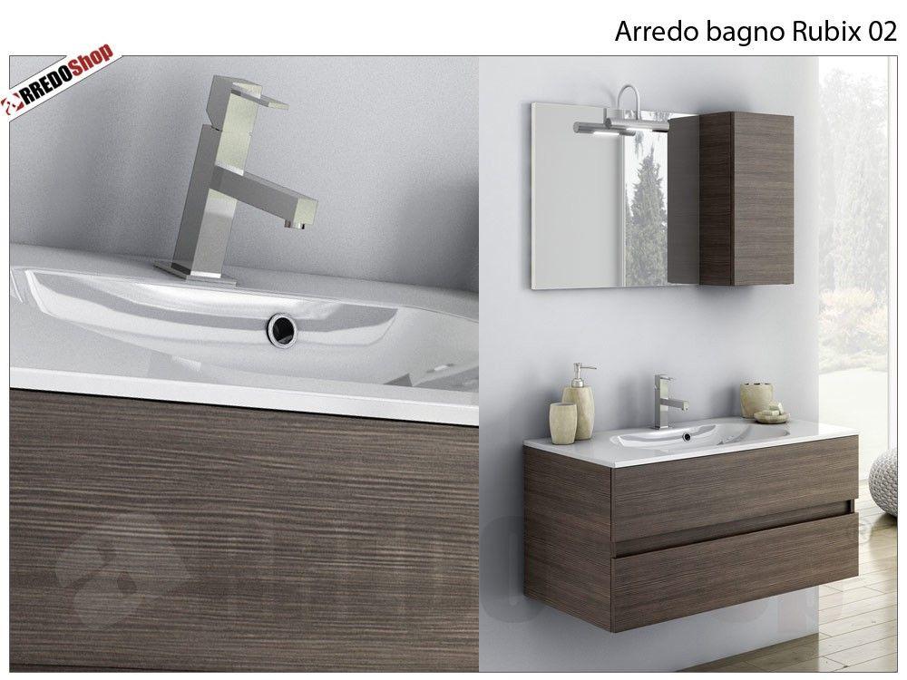 l' arredo bagno rubix 02 è composto da: nr.1 base portalavabo a ... - Arredo Bagno Misure