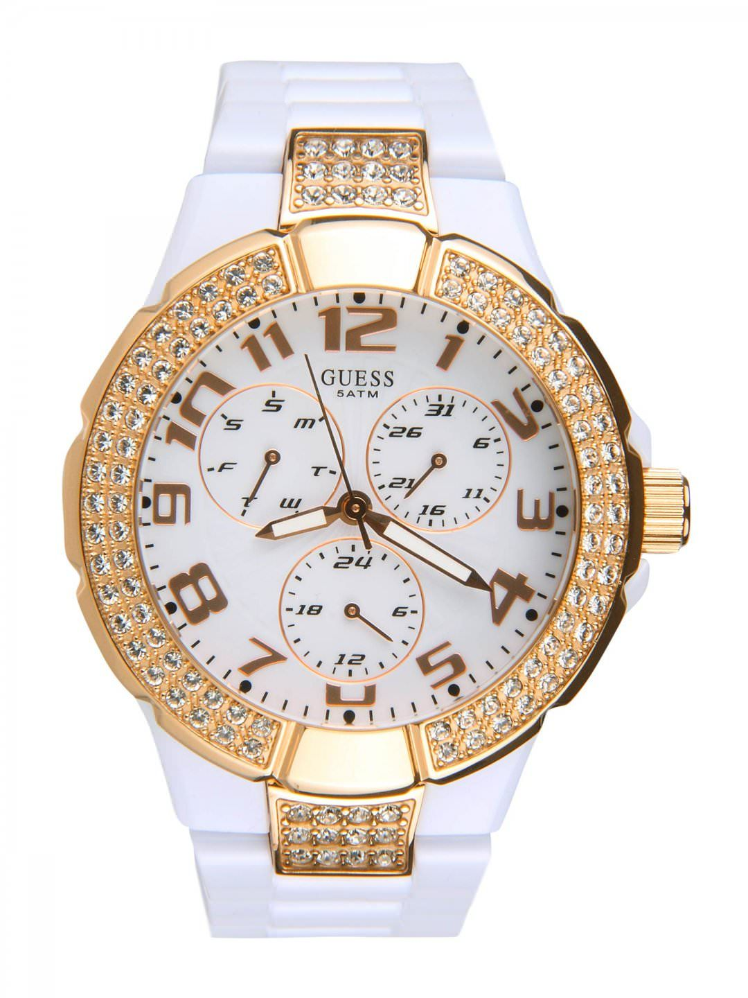 guess prism white watches