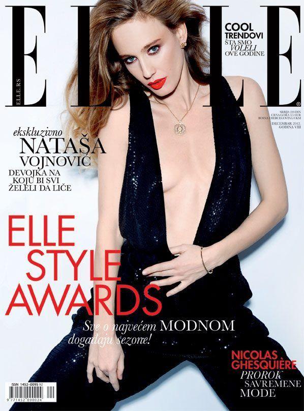 Natasa Vojnovic - Elle Magazine Cover [Serbia] (December 2012)