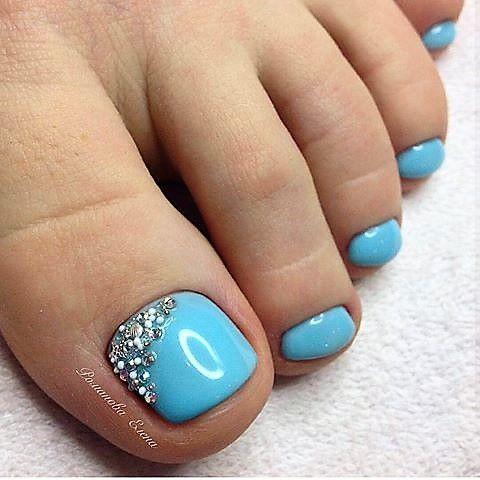Blue Toe Nail Art Blue Toe Nails Pedicure Designs Toe Nails