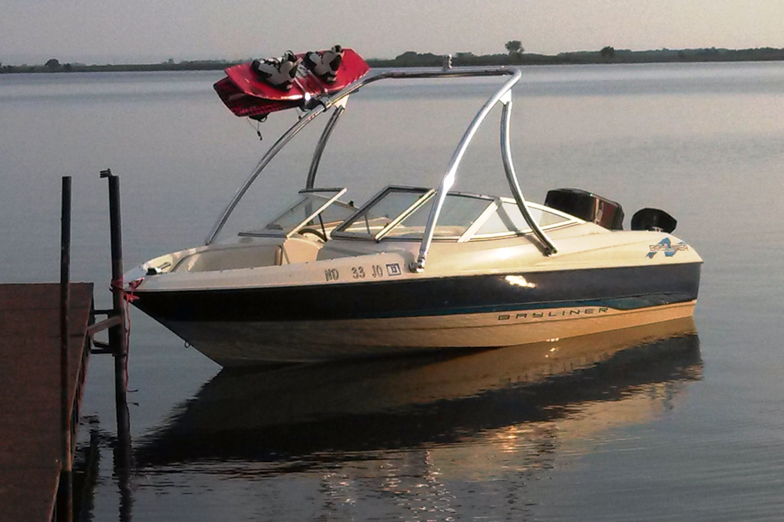1995 bayliner 1700 ls capri with a big air ice tower for Ice scratcher boat motor for sale