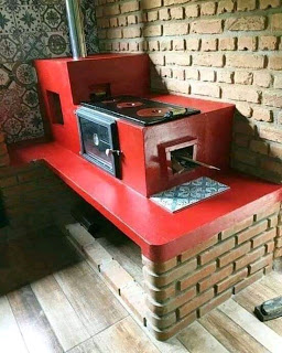 Inspirasi Dapur Kayubakar Moderen Outdoor Wood Burning Fireplace