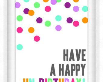 Birthday Card Basics Printable Postcards Birthday Cards Happy Unbirthday