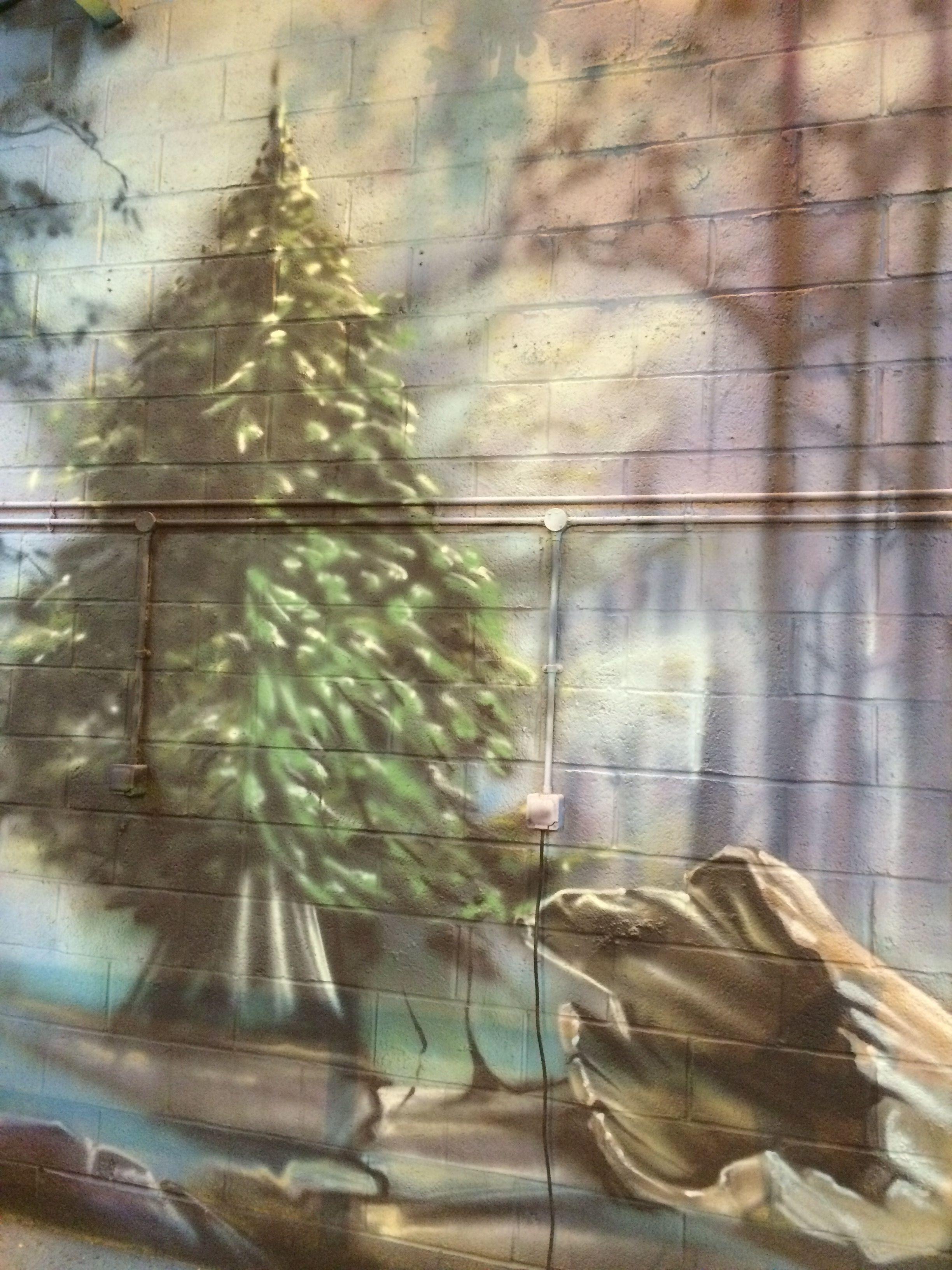 Airbrush Landscape Mural