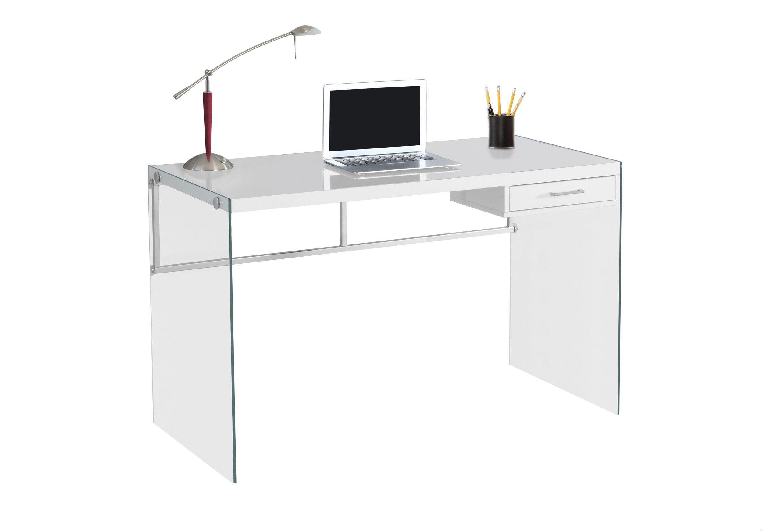 Moarch Specialties Glossy White 48 Computer Desk Scrivania Studio Scrivania