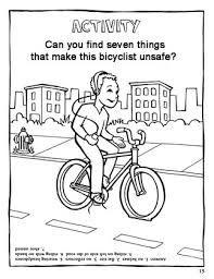 Bike helmet safety coloring pages preschool ~ Image result for bike safety for kids   Brownie Bike ...
