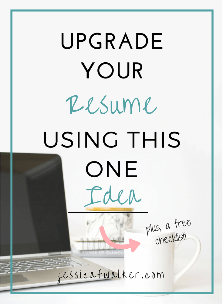 Make Resume Free Upgrade Your Resume Using This One Idea Plus A Free Checklist .
