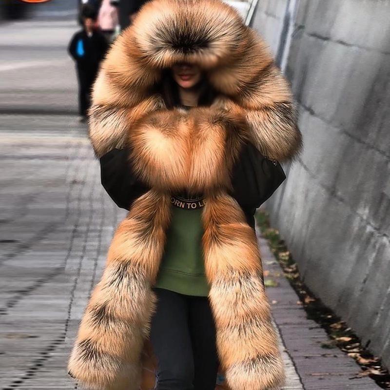 Womens Fashion Faux Fur Splicing Overcoat Shakeshe Coupon Code W15 In 2020 Fashion Faux Fur Womens Faux Fur Coat Womens Fashion