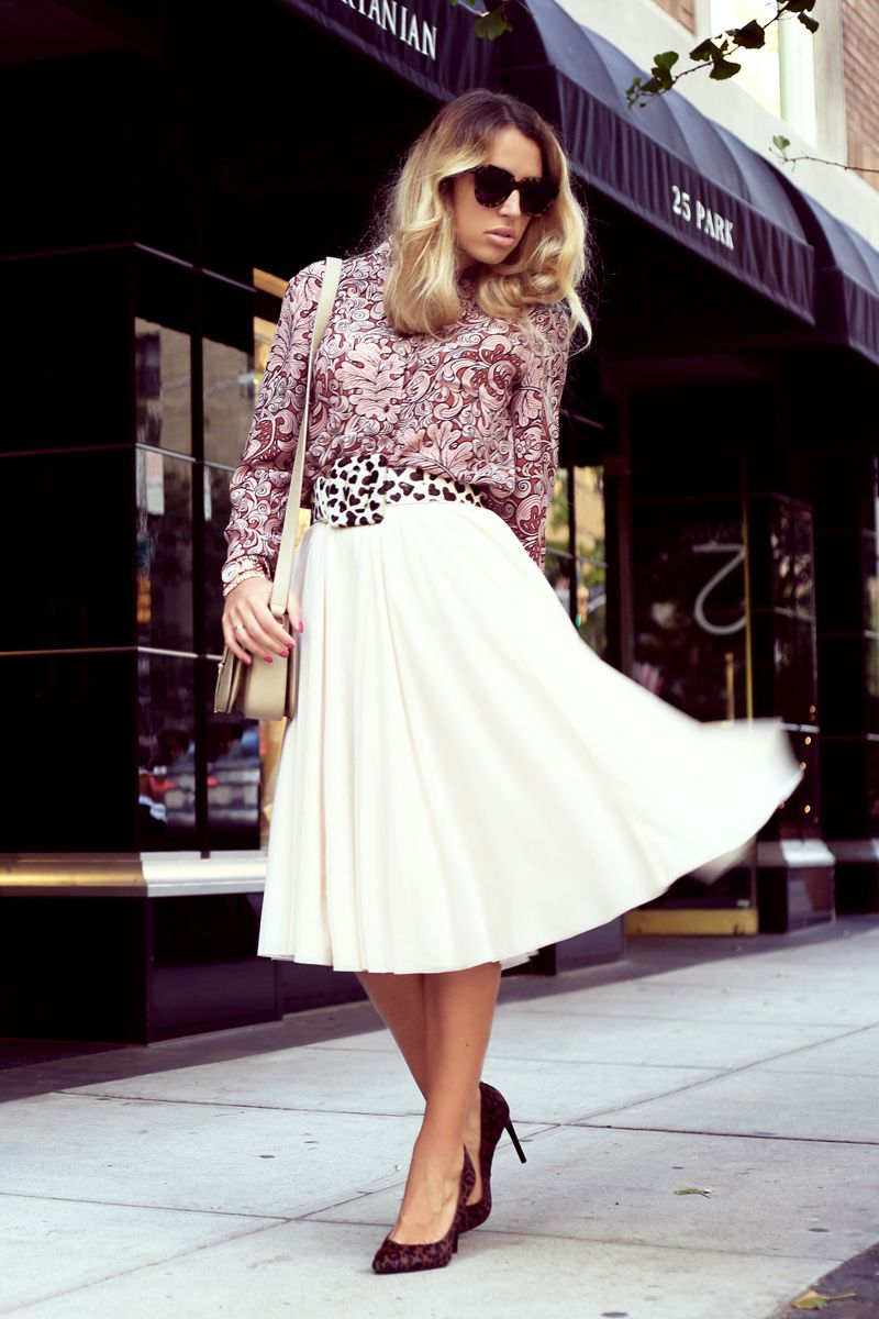Mix & Match #ootd #outfit #look #Glamgerous #blogger #fashionblog #style #fashion #streetstyle #ombre #newyork #blog #glamour #midiskirt #skirt #aliceandolivia #miumiu #ysl #celine