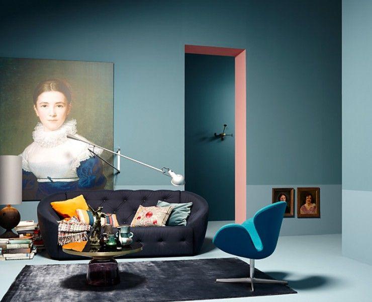 Moderner Einrichtungsstil - Modern Wohnen Interiors, Flos 265 and - einrichtung stil pop art