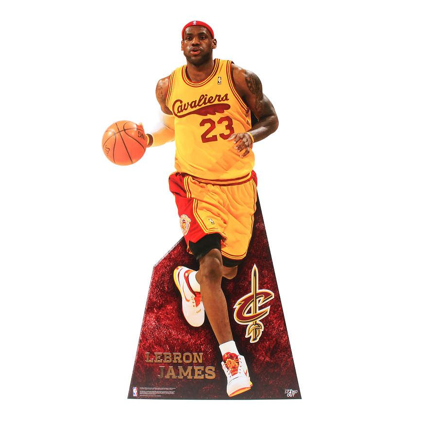 baeade8ba0c LeBron James Throwback Life-Size Stand Out Freestanding Cut Out ...