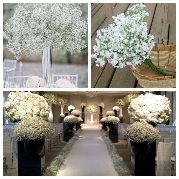 Artificial Plastic Gypsophila Baby S Breath Flower Plant Home Wedding Decor Babys Breath Flowers Fake Flower Bouquet Wedding Home Wedding Decorations