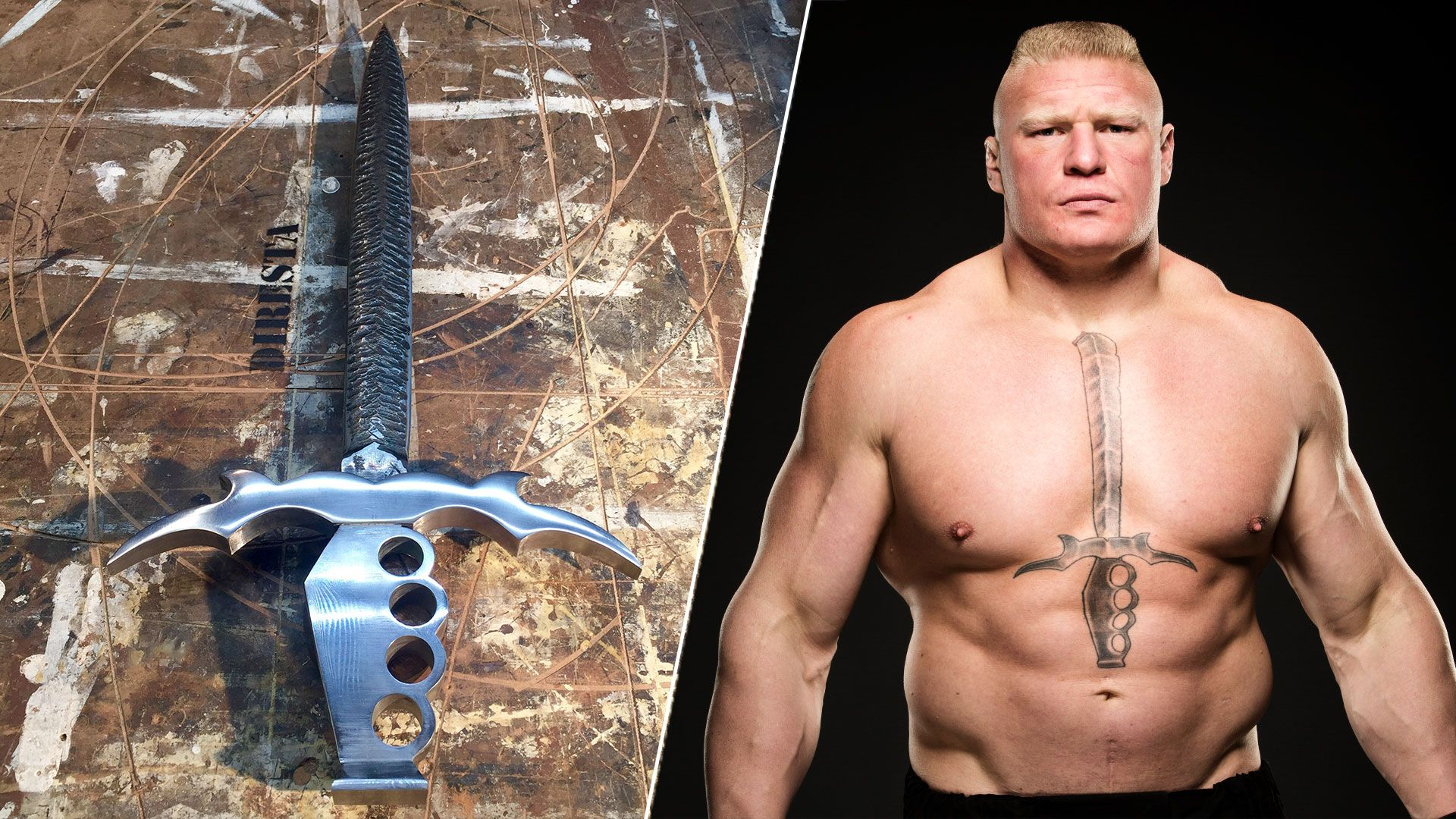 Brock Lesnar S Tattoo Comes To Life Brock Lesnar Tattoos Sword Tattoo Brock lesnar tattoo wallpaper download