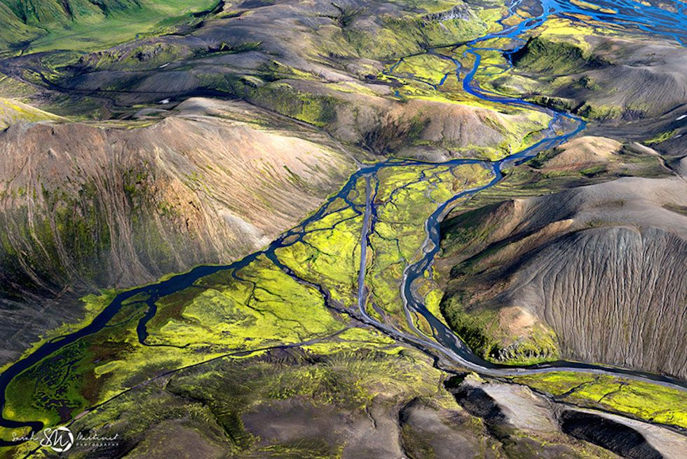 Iceland from above, by Sarah Martinet