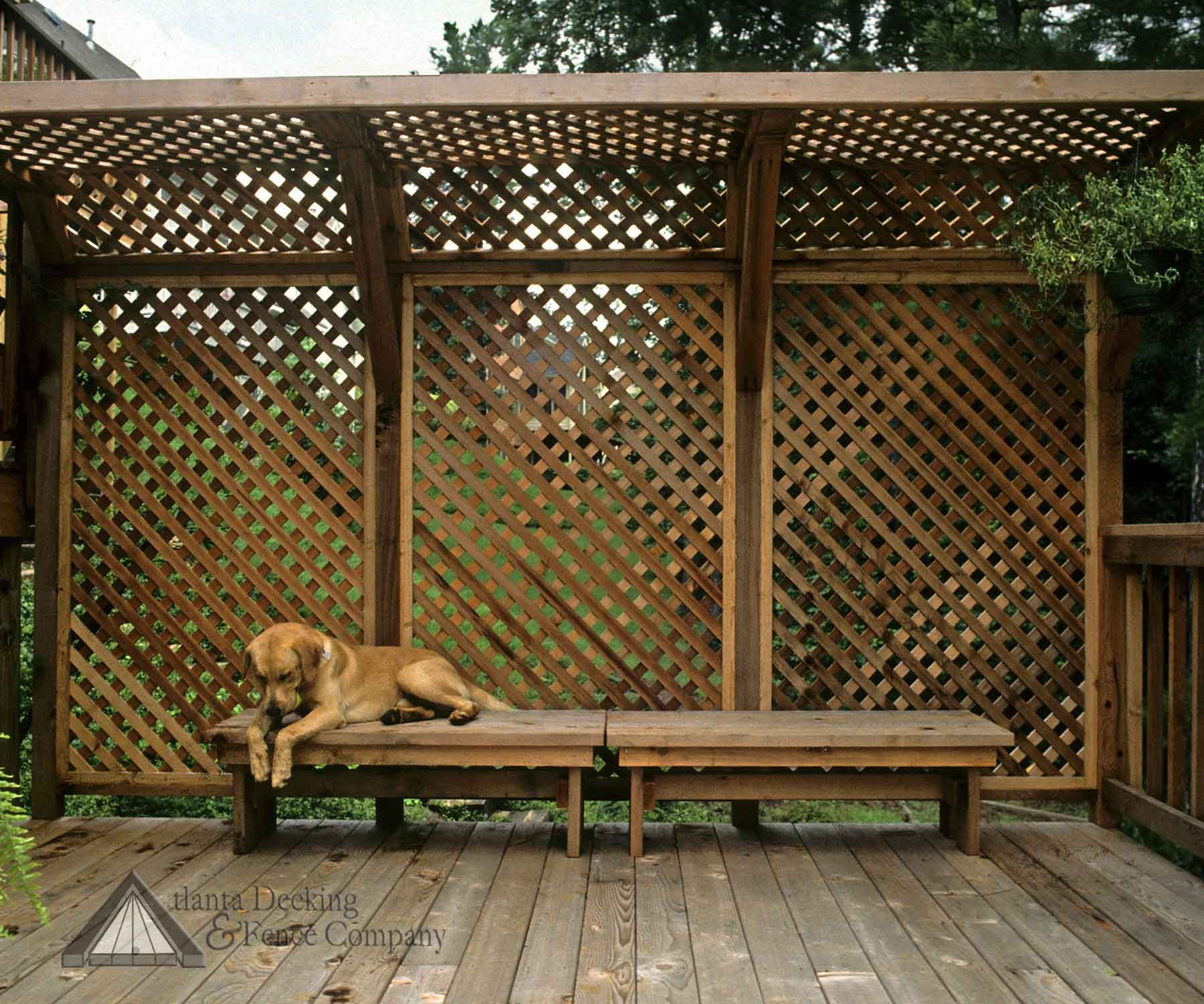 Picture of deck privacy screen For back patio Nice Neighbor just