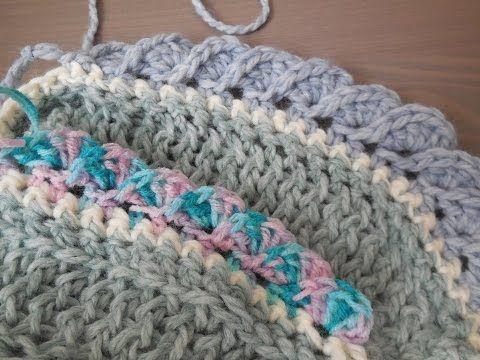 Tutorial Rand Haken Met Waaiers Youtube Crochet Edges