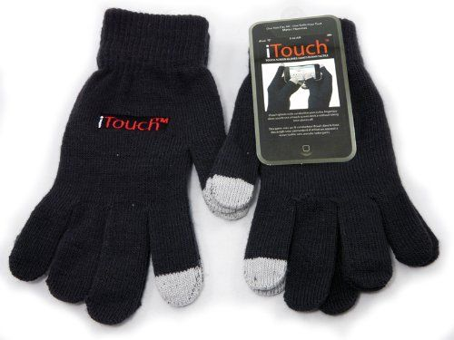 This glove allows you to stay warm while sending text messages or while performing other functions on your touch screen device. At the tip of the index finger and thumb, there is a special conductive yarn that allows you to use the touch-screen device in the same way you use your finger. In extreme weather great as a glove liner.